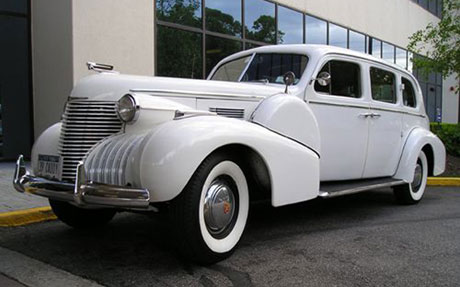 Gold Star Services -1939 Cadillac Limousine - Long Island Limo Services