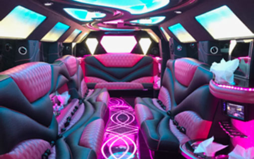 Pink Limos - Hummer H2 Limo with Jet Door | Gold Star Limousine, NY